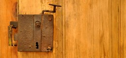 Old fashioned lock in the bedroom